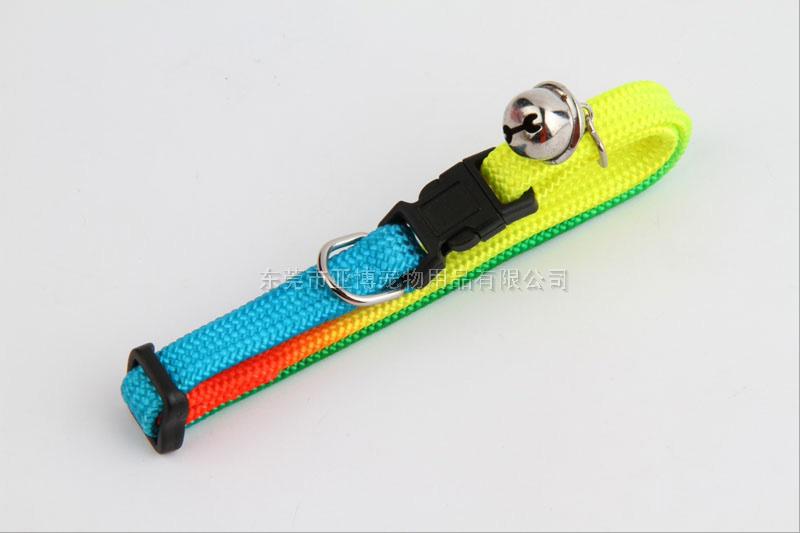 亚博 彩虹编织猫颈圈